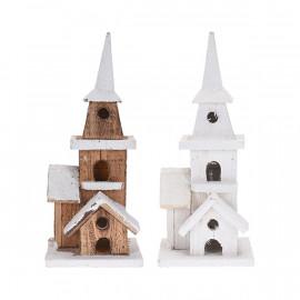 Világító fa templom