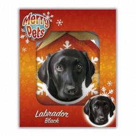 Fekete labradoros karácsonyfadísz
