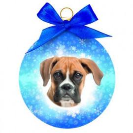 Boxer kutyás karácsonyfadísz