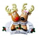 """Szerelmespár """"első közös karácsonyunk"""" személyre szabható karácsonyfadísz"""
